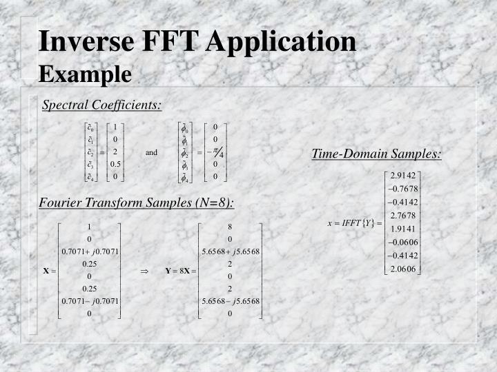 Inverse FFT Application
