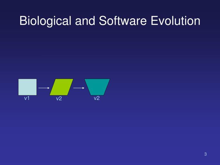 Biological and software evolution1