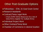 other post graduate options