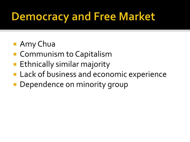 Democracy and Free Market