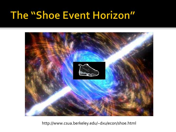 "The ""Shoe Event Horizon"
