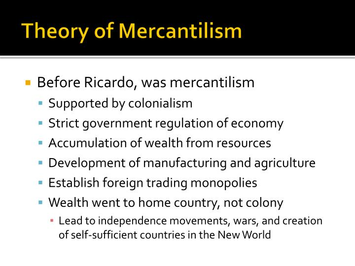 Theory of Mercantilism