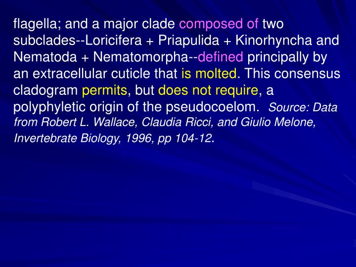 flagella; and a major clade