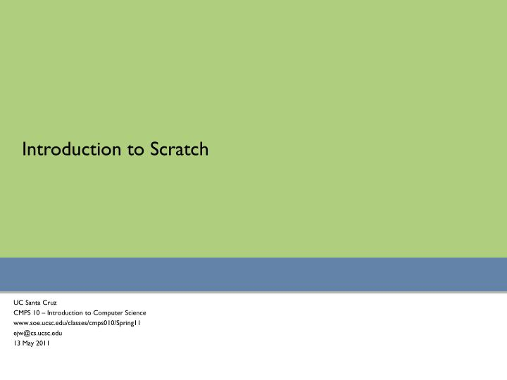 introduction to scratch n.