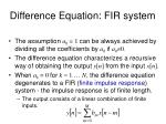 difference equation fir system