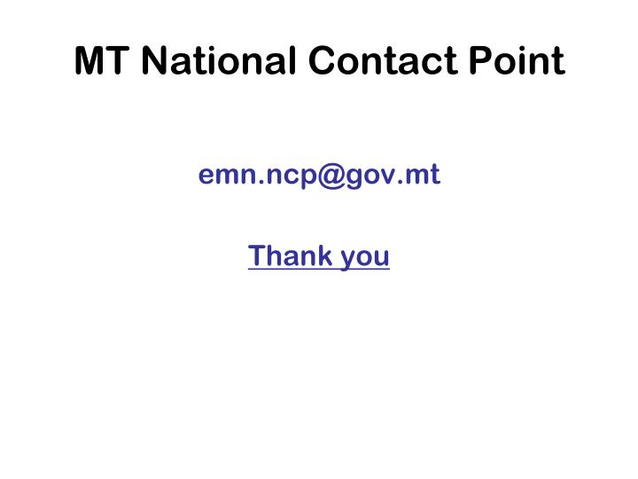 MT National Contact Point