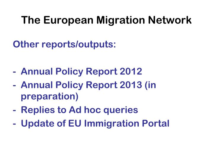 The European Migration Network