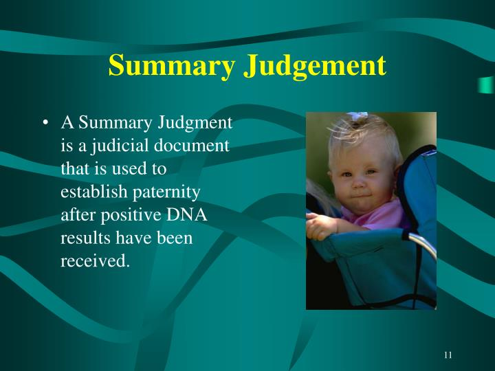 Summary Judgement