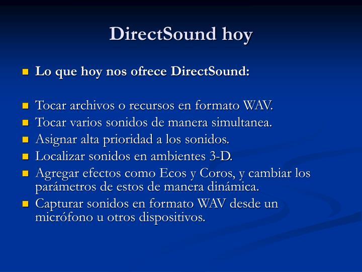 DirectSound hoy