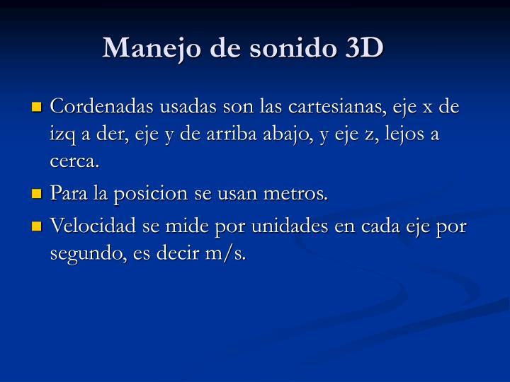 Manejo de sonido 3D