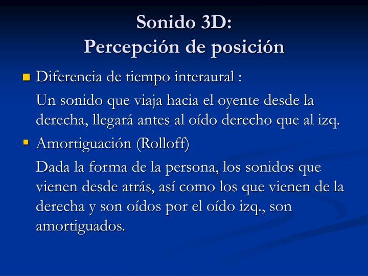Sonido 3D: