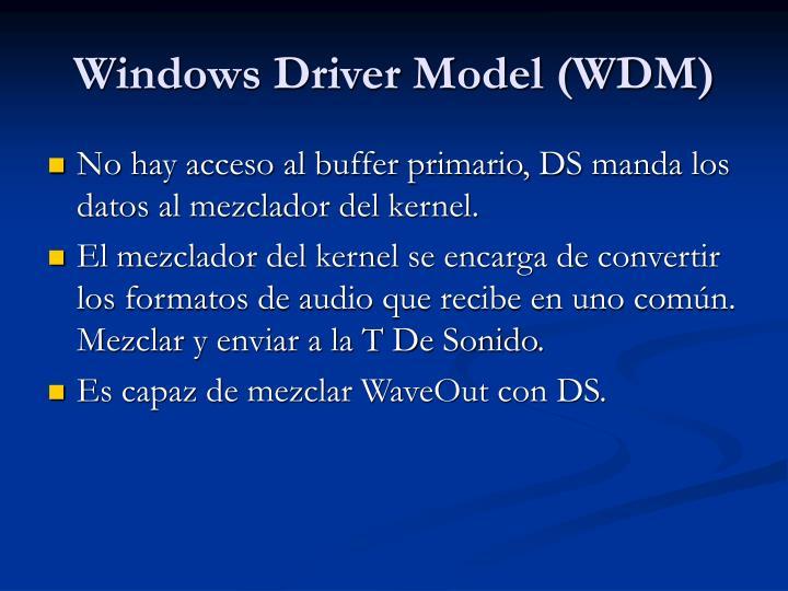 Windows Driver Model (WDM)