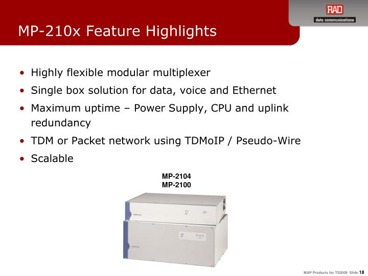 MP-210x Feature Highlights