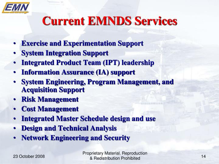 Current EMNDS Services