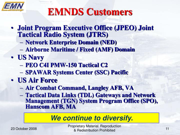 EMNDS Customers