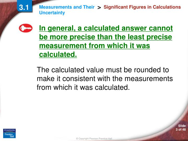 Significant figures in calculations1