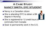 a case study nancy smith dyc student