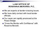 law office of rosanna berardi p c