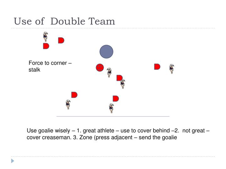 Use of  Double Team