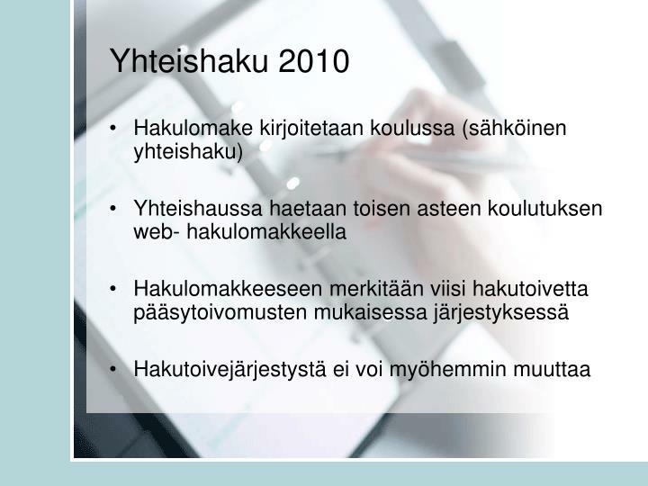 Yhteishaku 2010