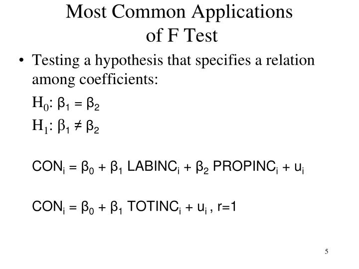 Most Common Applications