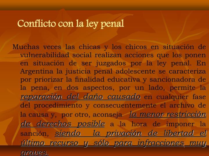 Conflicto con la ley penal