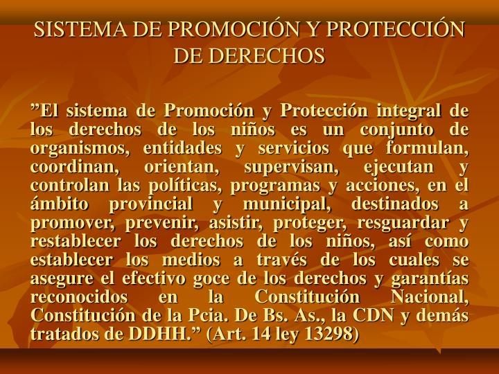 SISTEMA DE PROMOCIÓN Y PROTECCIÓN DE DERECHOS