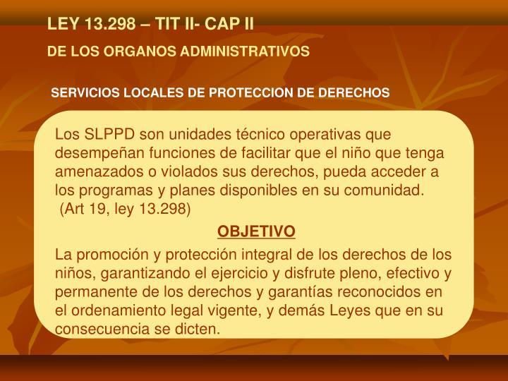 SERVICIOS LOCALES DE PROTECCION DE DERECHOS