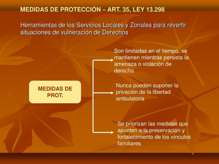 MEDIDAS DE PROT.