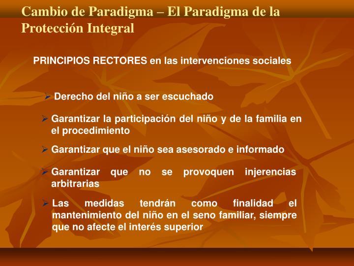 Cambio de Paradigma – El Paradigma de la Protección Integral