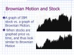 brownian motion and stock