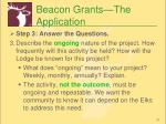 beacon grants the application1