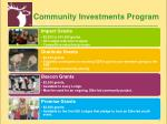 community investments program