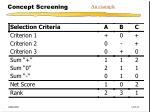 concept screening1