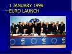 1 january 1999 euro launch