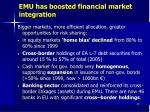 emu has boosted financial market integration