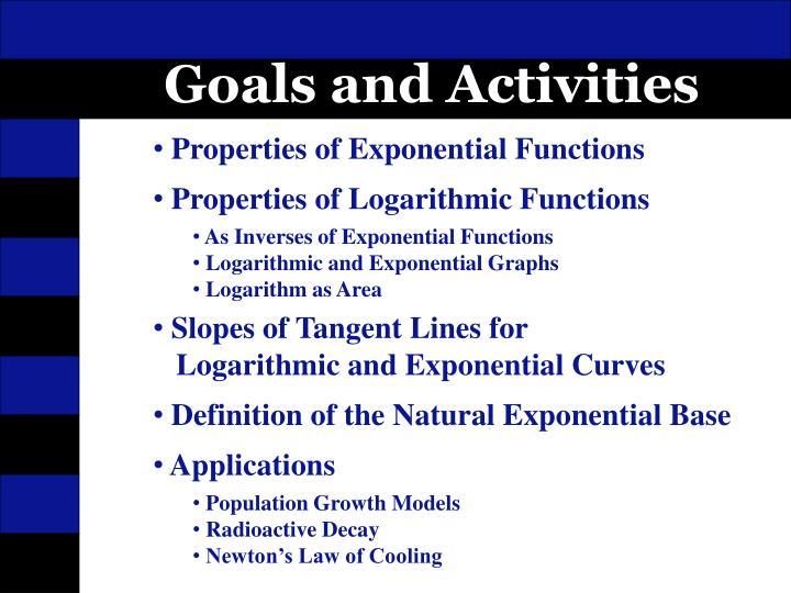 Goals and Activities