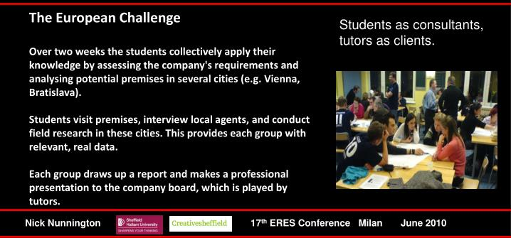 The European Challenge