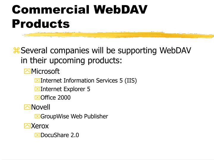 Commercial WebDAV Products