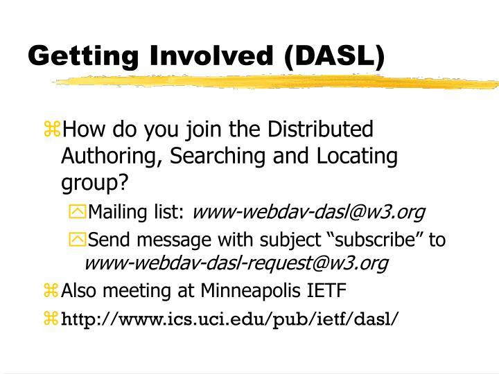Getting Involved (DASL)
