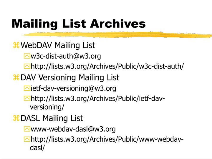 Mailing List Archives
