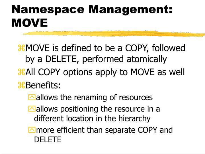 Namespace Management: MOVE
