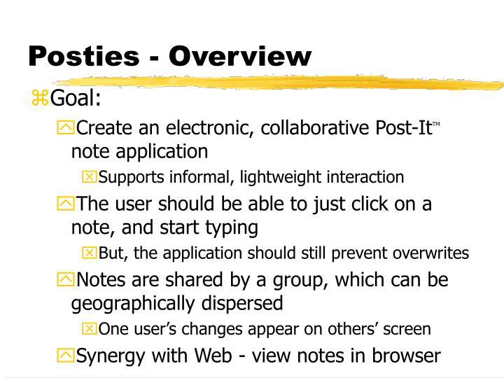 Posties - Overview