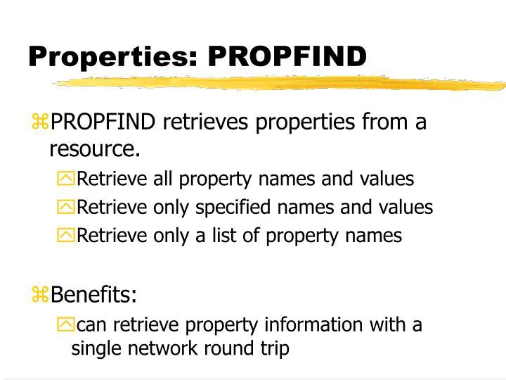 Properties: PROPFIND
