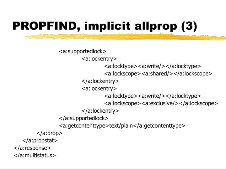 PROPFIND, implicit allprop (3)