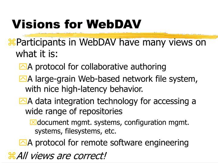 Visions for WebDAV