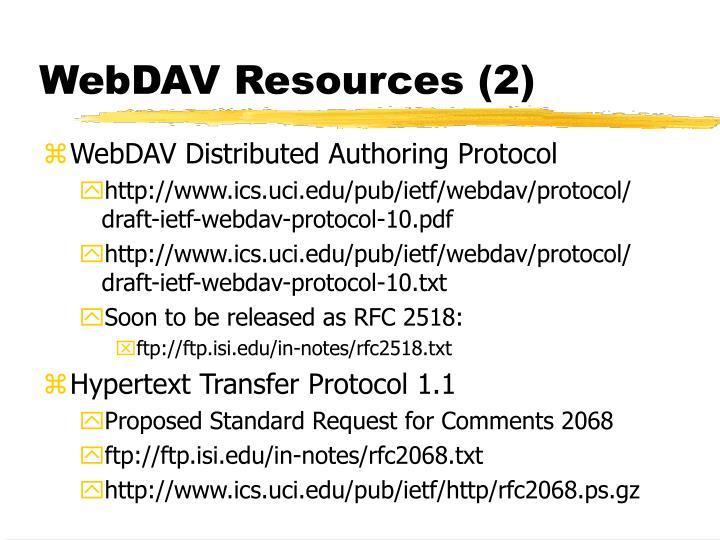 WebDAV Resources (2)