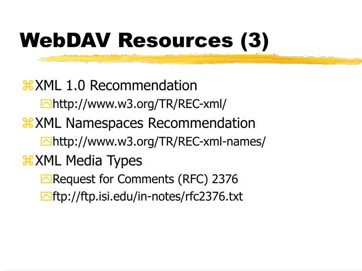 WebDAV Resources (3)