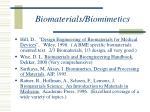 biomaterials biomimetics
