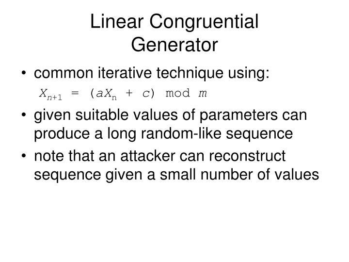 Linear Congruential